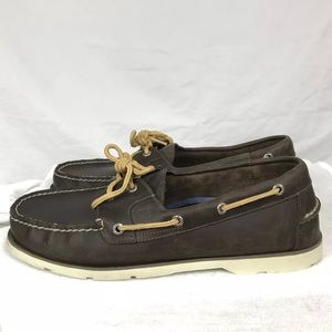 SPERRY BROWN LEATHER BOAT SHOES SZ 12